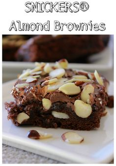 when I have time to really make a decadent treat I like to make these SNICKERS Almond Brownies. SNICKERS add the perfect touch to decadent dessert!