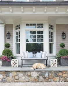 Exterior window trim ideas curb appeal porches Ideas for 2019 D House, House Front, Front Porch Seating, Patio Seating, Patio Dining, Front Porches, Dining Area, Dining Bench, Bay Window Decor