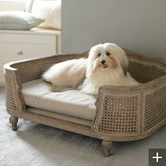 Pet Beds That Add Style to Your Home's Decor - Driven by Decor Pet Furniture, Fine Furniture, Furniture Ideas, Dog House Bed, French Dogs, Driven By Decor, Pet Home, Bed Styling, Dog Houses