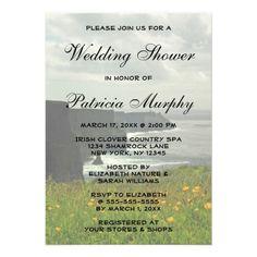 Irish Ireland Nature Country Wedding Bridal Shower Custom Invitations