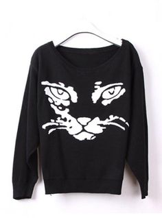 Cute kitty LOng Sleeve Sweater$38.00