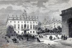 Antique print Palacio Real Mayor de Barcelona / grabado Palau Reial Major 1869