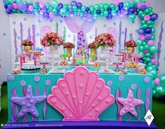 68 Trendy Ideas For Birthday Party Frozen Decoration Kids Frozen Decorations, Mermaid Party Decorations, Birthday Party Decorations, Birthday Parties, Mermaid Birthday Cakes, Little Mermaid Birthday, Little Mermaid Parties, Partys, Instagram