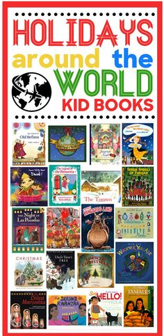 Holidays Around the World Children's Books Around The World Theme, Celebration Around The World, Around The Worlds, Around The World Crafts For Kids, Schools Around The World, Free Kids Books, Kid Books, School Holidays, Winter Holidays