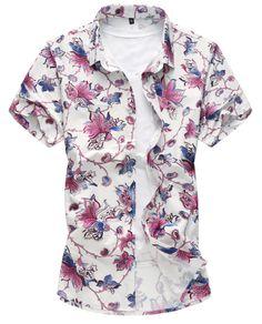 250a4c26687 2018 Fashion Mens Long Sleeve Hawaiian Shirt Summer Casual Dot  Printedliligla