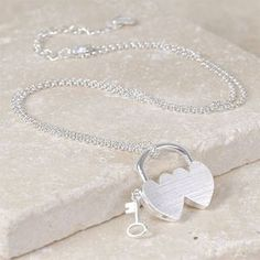 Double Heart Padlock Necklace - what's new