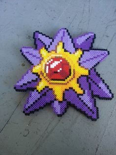 Starmie Pokemon perler beads by BurritoPrincess