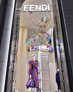 "FENDI, Madison Ave., New York, ""More from the sparkling 'Hues of Light' window installations"", creative by artist Chris Wood, pinned by Ton van der Veer."