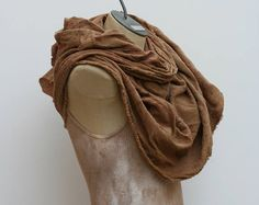 Post Apocalyptic Shawl Shemagh Splatter Tan Drape Wrap