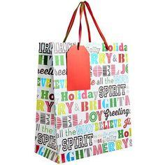Festive Words Vogue Gift Bag