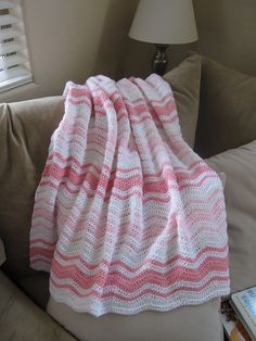 Ravelry: Beescotch's May's Pinkie Stripes blankie