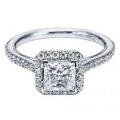 The perfect Square Halo Engagement Ring from Wedding Day Diamonds