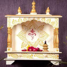 Temple Design For Home, Home Temple, Interior Design Kitchen, Interior Decorating, Eco Friendly Ganesha, Home Decor Items Online, Mandir Design, Pooja Mandir, Puja Room