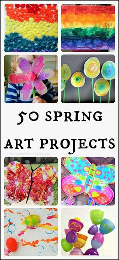 50 Amazing Spring Art Projects for Kids!
