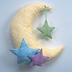 Pintuck Moon and Stars Wall Hanging pattern available    Created by: Nancy Fiedler