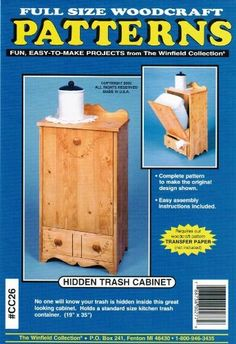 Hidden Trash Cabinet Woodworking Plans Winfield Collection, Wall Safe, Transfer Paper, Woodworking Ideas, Design Show, Wood Crafts, Workshop, Cabinet, How To Plan