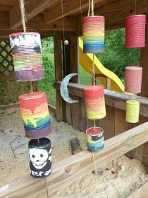 The Enchanted Tree: Recycled Can Windchimes