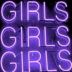 aesthetic, bright, girls, neon, purple, sign, texture, tumblr ...