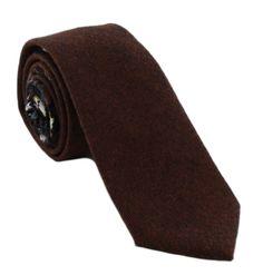 1937 London Aspen Skinny Wool Mix Tie