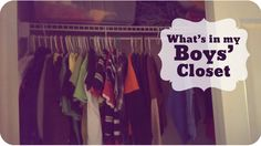 What's in my boys' closet | #73  | Subscribe: http://youtube.com/PepperScraps