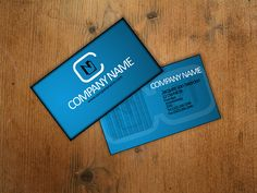Blue Business Card Template - Free PSD Download