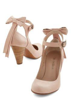 ModCloth | Bow My Darling Heel in Petal #modcloth #heels