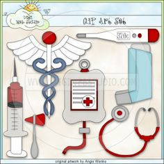 medical scrapbook supplies | Doctor Supplies 1 - Clip Art by Angie Wenke