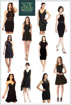 REVEL: Black Cocktail Dresses