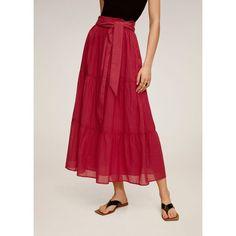 Jupe midi noeud  Mango | La Redoute Tweed, Denim Skirt, Midi Skirt, Flare, Wishlist Shopping, Fuchsia, Manga, New Model, Neue Trends