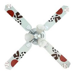 Ceiling fan blades blades only 42 52 marvel avengers large brighten your kids room with this fun sports ceiling fan kids room mozeypictures Gallery