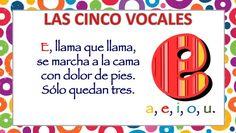 APRENDEMOS LAS CINCO VOCALES POEMA DE CARLOS REVIEJO -Orientacion Andujar Preschool Activities, Spanish, Teacher, Education, Ideas Para, Montessori, Gym, Children's Literature, Amor