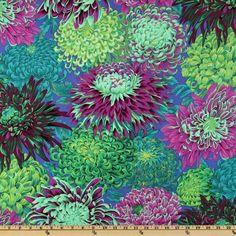 Kaffe Fassett Collective 2010 Pandora Chrysanthemum - Discount Designer Fabric - Fabric.com