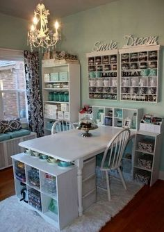 Organized craft room pic