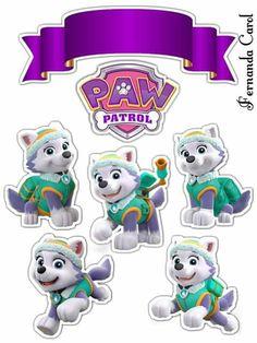 Sky Paw Patrol, Paw Patrol Cake, Paw Patrol Party, Imprimibles Paw Patrol, Paw Patrol Stickers, Paw Patrol Birthday Girl, Paw Patrol Decorations, Cumple Paw Patrol, Rosalie