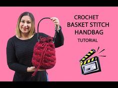 Basket Stitch Bag Tutorial/Cómo hacer bolso el punto cesto en ganchillo