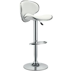 Saddleback Bar Stool in White - From the Home Decor Discovery Community at www.DecoandBloom.com