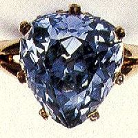 Marie Antoinette's blue diamond ring -- Stunning 5.64 carat blue heart shaped diamond which the queen had set in a ring. During the Revolution, Marie Antoinette gave the ring to her close friend Princess Lobomirska.