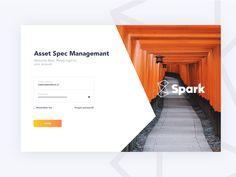 Spark login page UI designed by Darius M. Connect with them on Dribbble; Login Page Design, Ui Ux Design, Responsive Web Design, Ui Web, Portfolio Web Design, Portfolio Website, Website Home Page, Web Layout, Creative Design