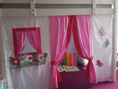 Designer loft bed curtain, play bed curtain, curtain for the loft bed, loft bed curtain, play bed curtain individually only by order – Curtains 2020 Loft Bed Curtains, Curtains Childrens Room, Diy Curtains, Play Beds, Kid Beds, Kids Bed Tent, Types Of Beds, Colorful Pillows, Girls Bedroom