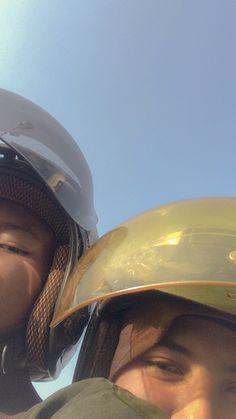 Couple Goals, Riding Helmets, Sky, Couples, Hats, Heaven, Hat, Heavens, Couple