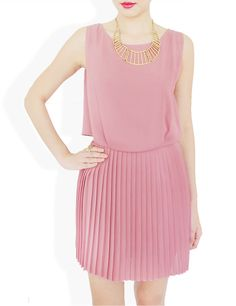 the Alyssa Pleated dress, $38 via #stylesofia #stylesofia.com