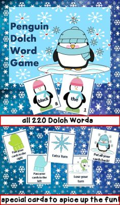 Dolch Word Fun! Students will love practicing sight words with this game! All cards are listed with the Dolch list they came from so you can differentiate for students. Includes all 220 Dolch Words. This is a student favorite!