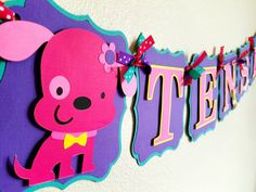 Puppy Birthday Banner  Puppy themed birthday by BellasPerfectParty