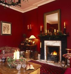 Of late I came across correspondingly many attractive perky rooms that use the red and white amalgamation that I thought it was time to put in a post. Color-wise, White is subtle and Red is intense. Red living room color is beautiful. Red Room Decor, Red Living Room Decor, Dining Room Colors, Living Room Photos, Christmas Living Rooms, Elegant Living Room, Living Room Designs, Red Living Rooms, Red Wall Decor