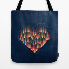 Interstellar Heart II Tote Bag by VessDSign @Society6