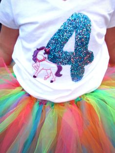 Unicorn Party Outfit - Love the rainbow skirt