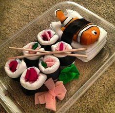 Diaper Sushi Rolls | Confessions of a Filipina