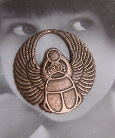 Copper Ox Plated Large Scarab Medallion 264COP x2. $3.00, via Etsy.