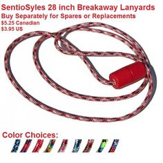 SentioSYLES: Colorful, Breakaway Lanyards 24 and 28 Inches Sold Separately READ our post all about them!