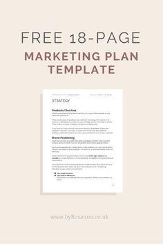 22 best marketing plan template images on pinterest marketing plan